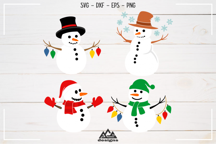 Cute Winter Snowman Packs Svg Design