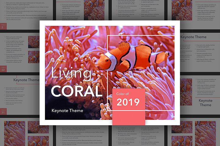 Living Coral Keynote Template