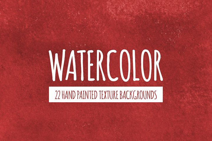 22 Red Watercolor Texture Backgrounds