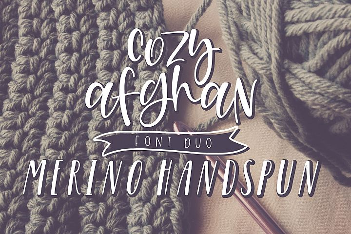 Cozy Afghan Font Duo