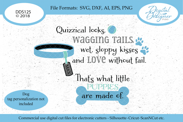What Little Puppies Are Made Of SVG DXF PNG EPS AI Cut File