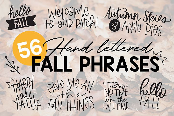 Fall Phrases Symbols Font