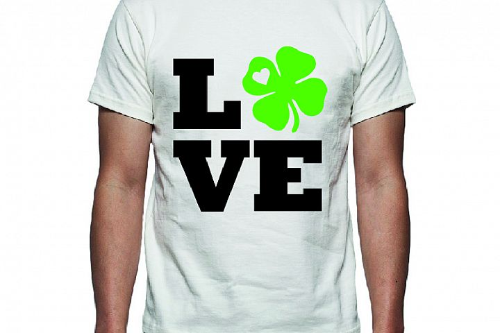 Love St Patricks Day Tee Shirt Design