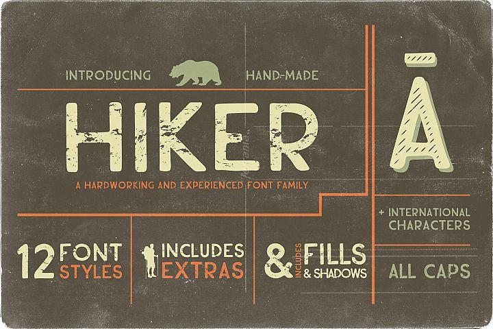 Hiker Premium Font Family