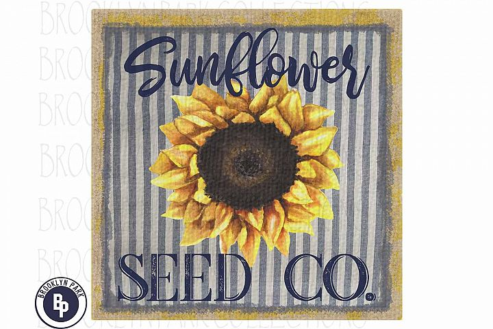 Vintage Sunflower Seed Co, Feed Sack, Sublimation PNG Art