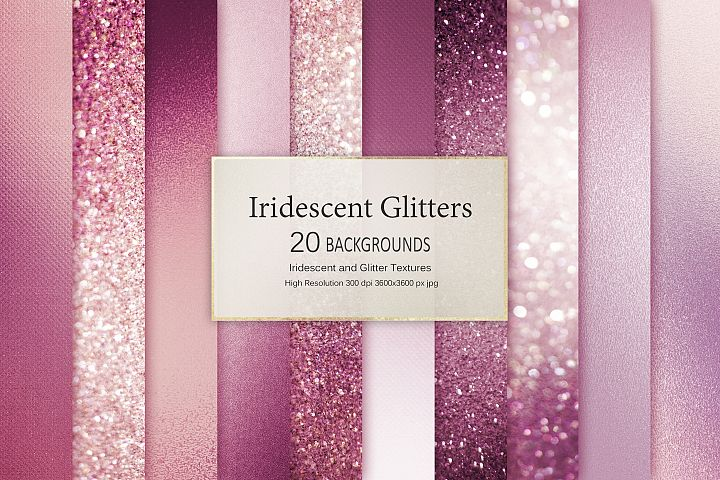 Rose Iridescent and Glitter Textures