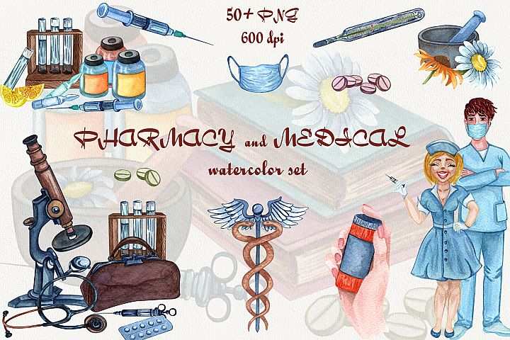 Pharmacy and Medical set