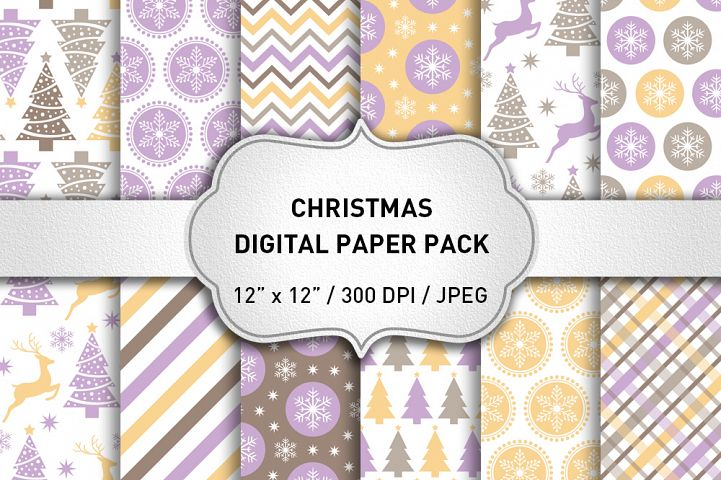 Christmas Digital Paper Pack / Christmas Background / Scrapbooking / Card Making / Patterns / Printables / Christmas Decorations