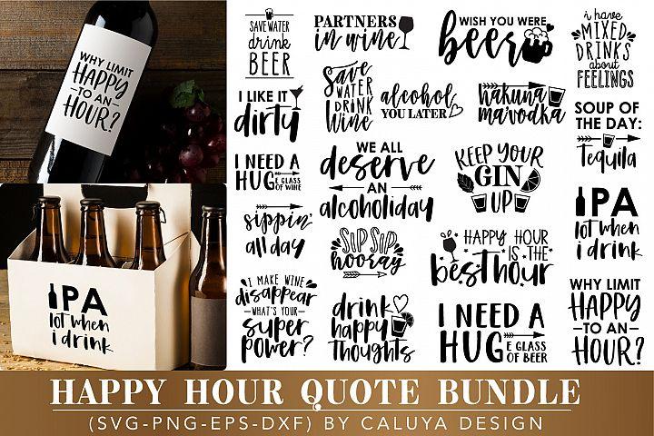 BIG Happy Hour Quote Cut File Bundle