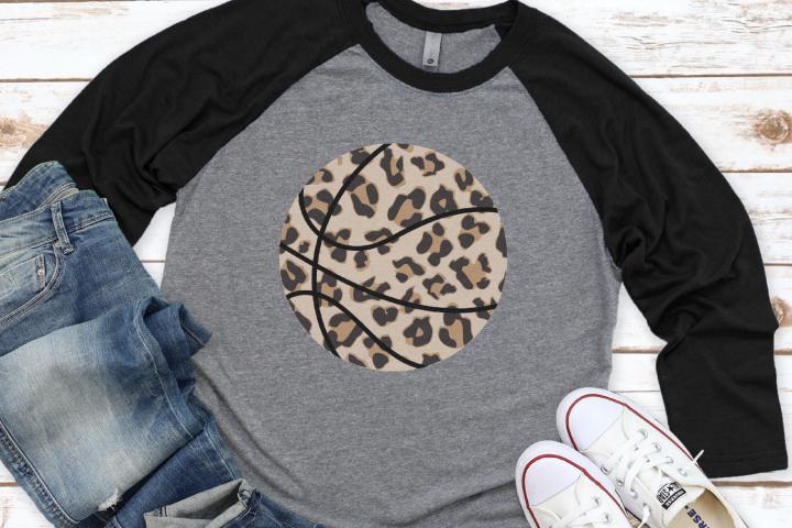 Basketball Mom - Biggest Fan - Leopard Basketball SVG
