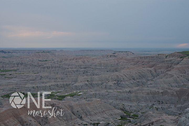Badlands National Park South Dakota Skyline Photo