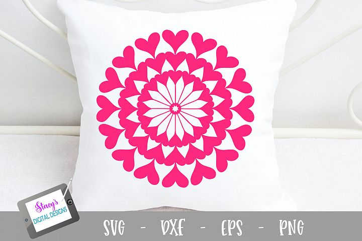 Mandala SVG - Heart mandala svg example