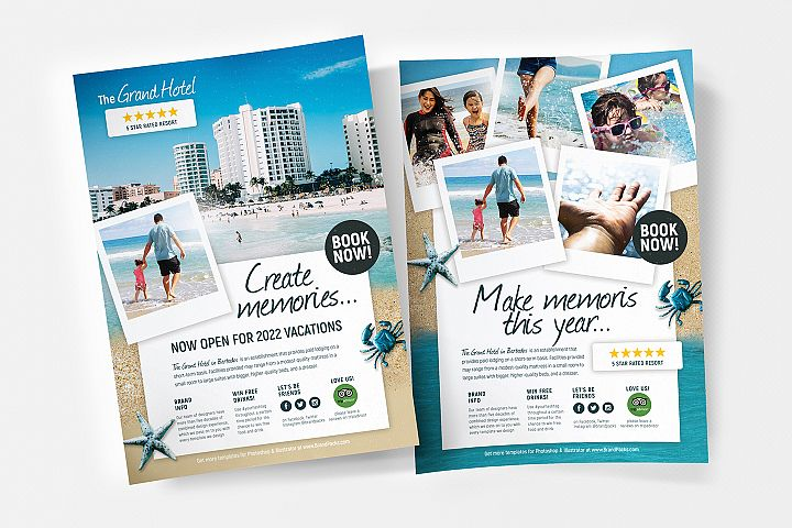Travel Hotel Flyer/Poster Template