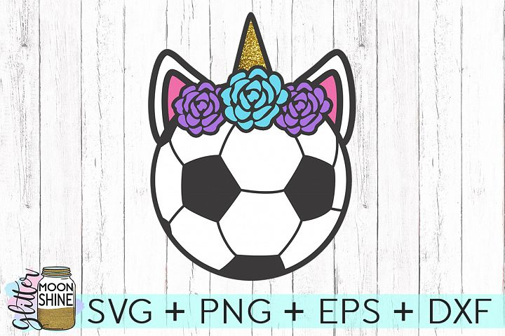 Soccer Ball Unicorn SVG DXF PNG EPS Cutting Files