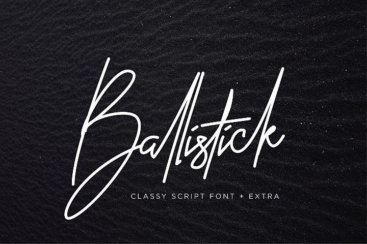 Ballistick - Classy Script Font with Extra Bonus