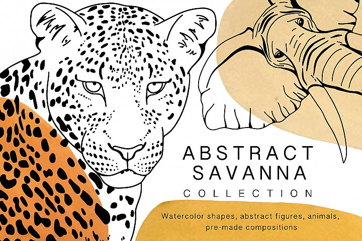 Abstract savanna collection