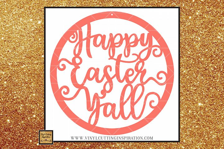 Easter Svg, Happy Easter Yall Svg, Rustic Farmhouse Style