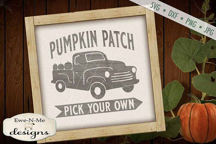 Pumpkin Patch Old Truck Fall Autumn SVG DXF Files