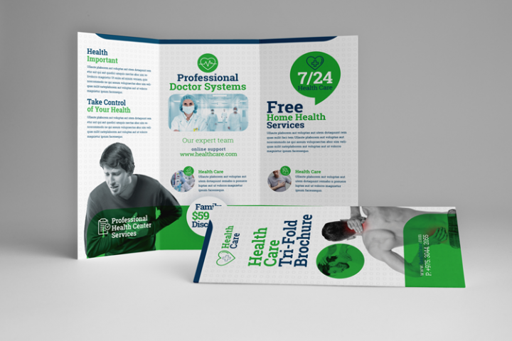 Health Professional Trifold Brochure Template