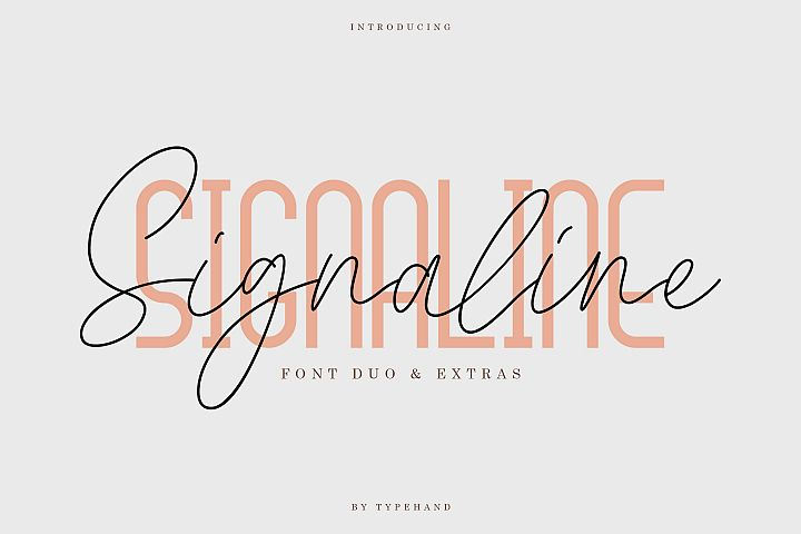Signaline // Font Duo Extras