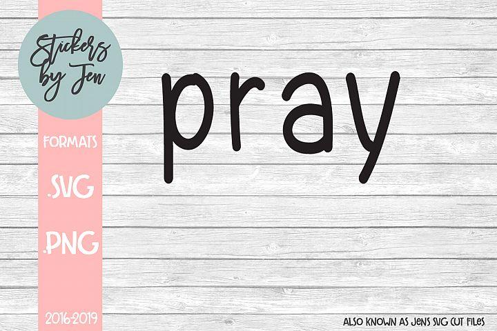 Pray SVG Cut File