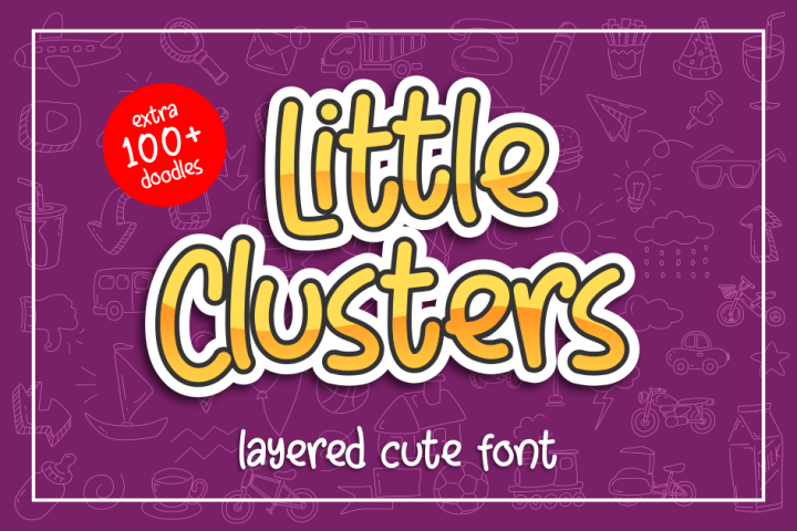 Little Clusters - Layered Cute Font -