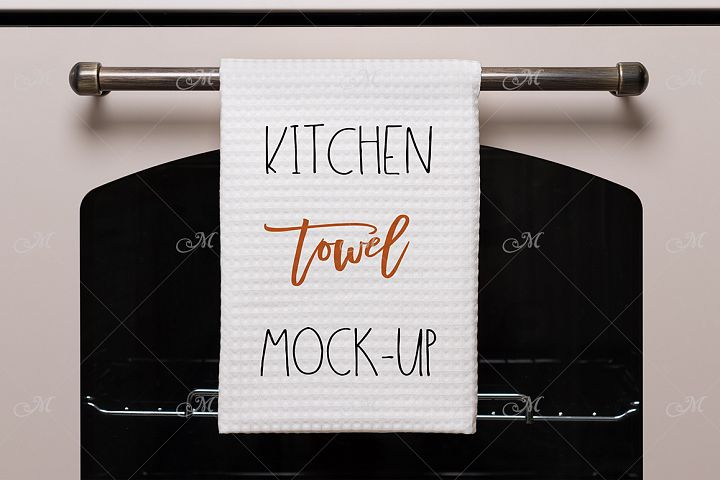 Kitchen Towel Mock-up. PSD & JPEG