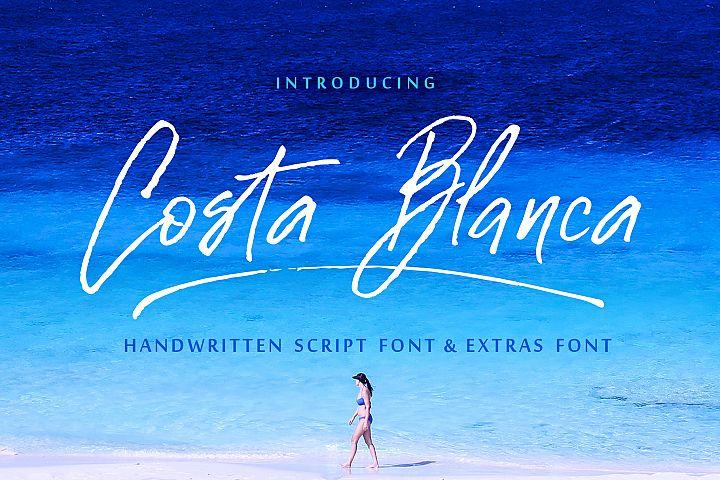 Costa Blanca script font + Extras