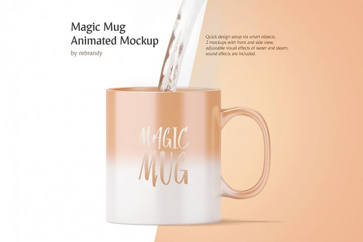 Magic Mug Animated Mock up