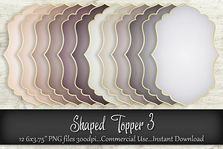 Shaped Topper 3