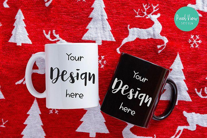 Coffee Mugs Mock-Up | Christmas