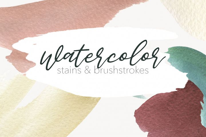 Watercolor - Stains & Brushtrokes