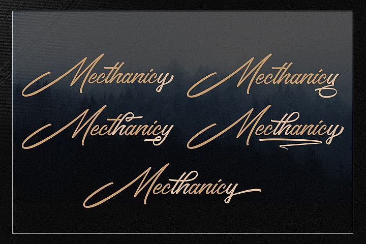 Ghiocity and Dhisthes Font Script example image 5