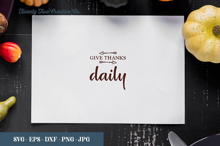 Give thanks daily - SVG, EPS, DXF, PNG, JPG