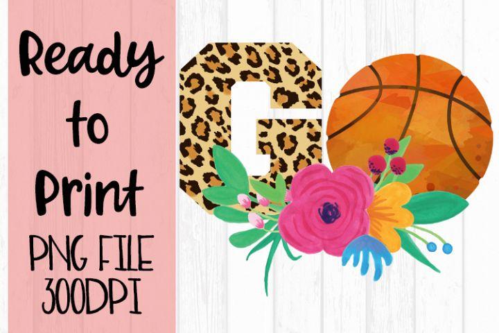 Basketball Go Leopard Ready to Print