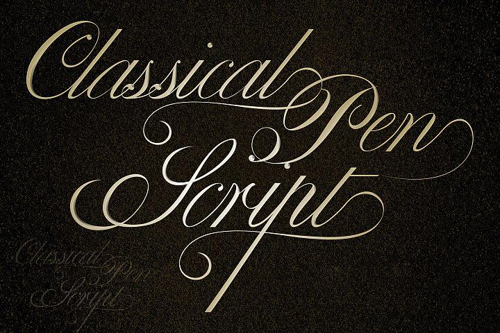 Classical Pen Script