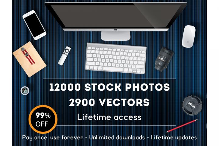 Lifetime access on Stock-Graphics - 14000 stock photos
