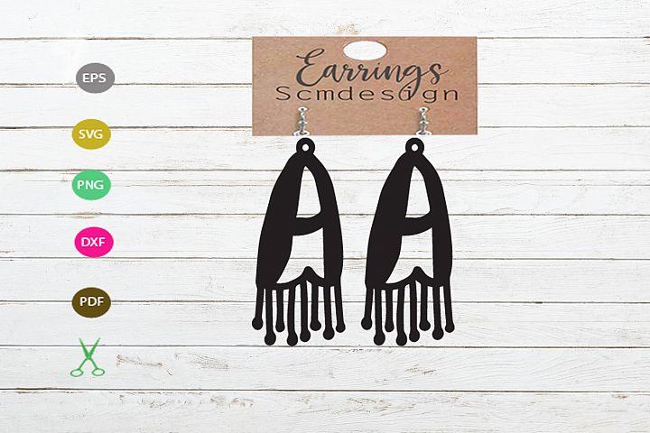 letter A Earrings SVG,earrings template earrings cut file
