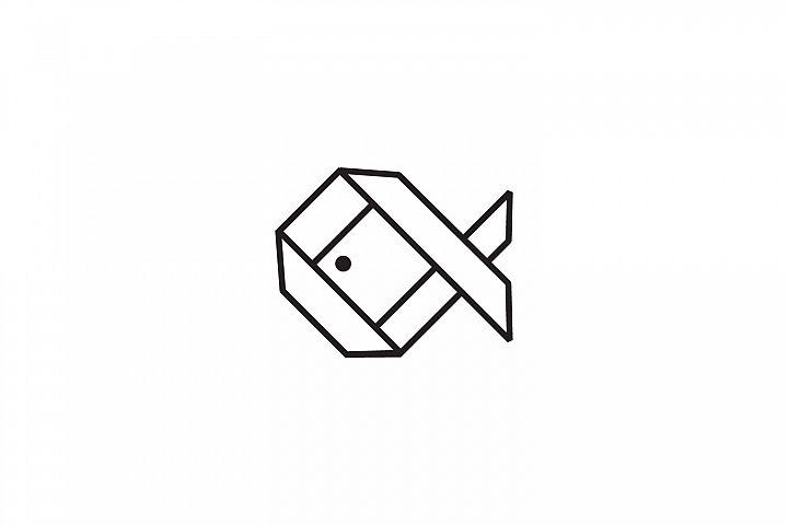 Fish Origami Logo