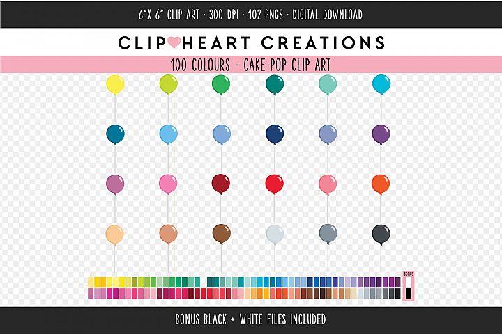 Cake Pop Clipart - 100 Colours