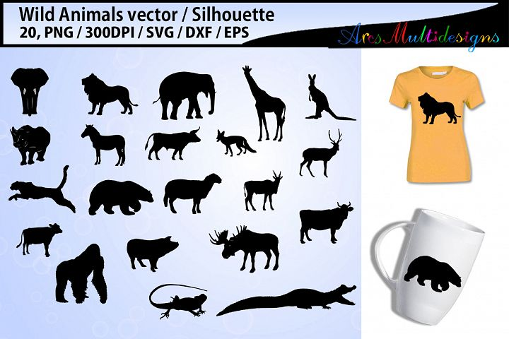 Wild Animals silhouette svg / Animals SVG Cutting Templates