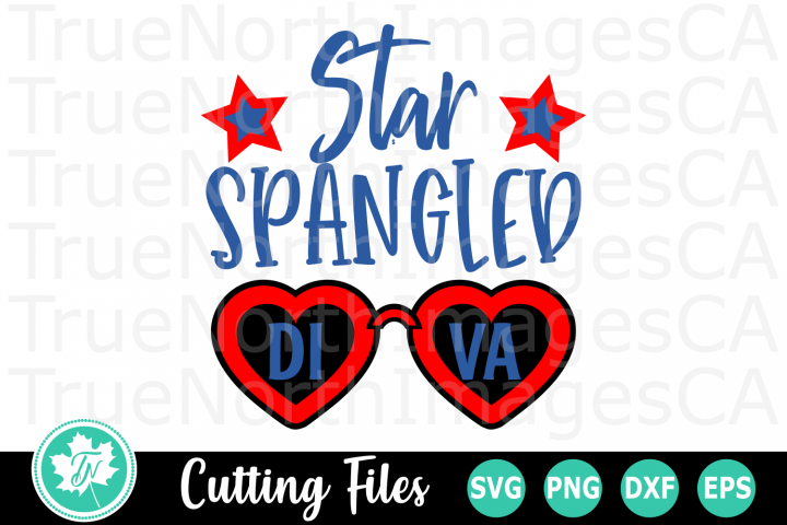 Star Spangled Diva - American SVG Cut Files