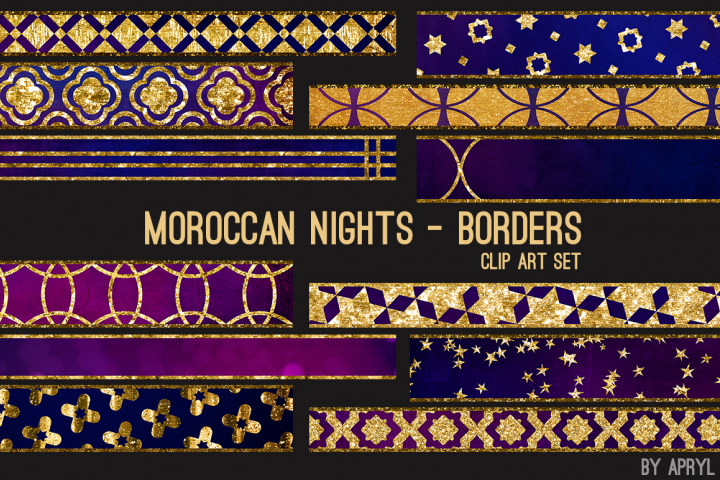 Moroccan Nights Art Borders Dividers