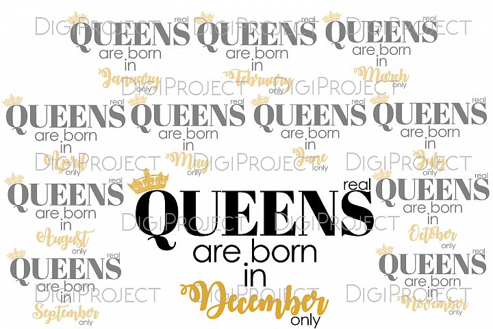 Real Queens are born printable image for transfer