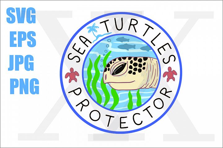 Save Sea Protector- SVG EPS JPG PNG