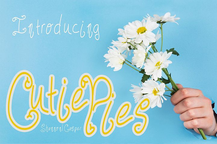 Cutie Pies Fun Handwritten Font