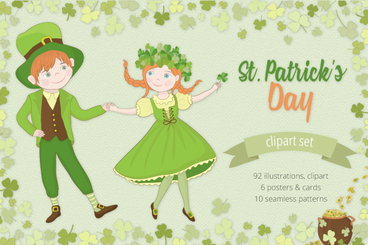 St. Patricks Day Illustration Set