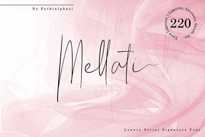 Mellati - Luxury Script Signature Font
