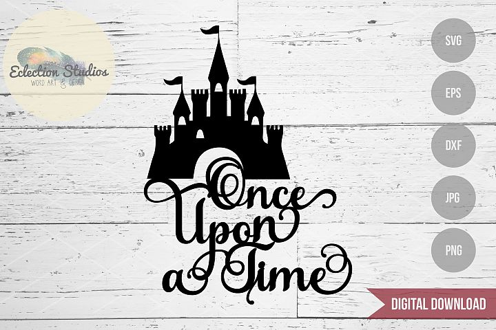 Princess Castle SVG Cake Topper