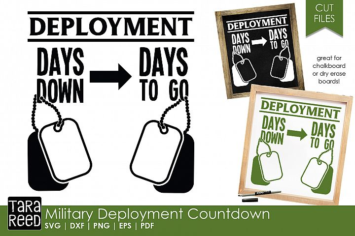 Military Deployment - SVG and Cut Files for Crafters